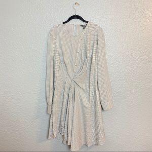 PROJECT RUNWAY CHECKERED BUTTON DRESS {XL}